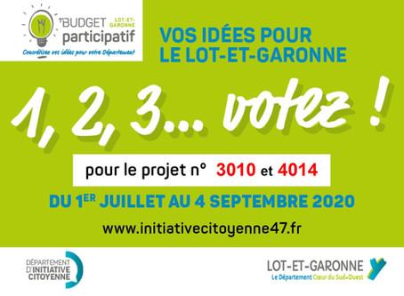 Votez pour nos projets !