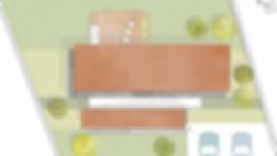 Planta de conjunto diseño de cabaña