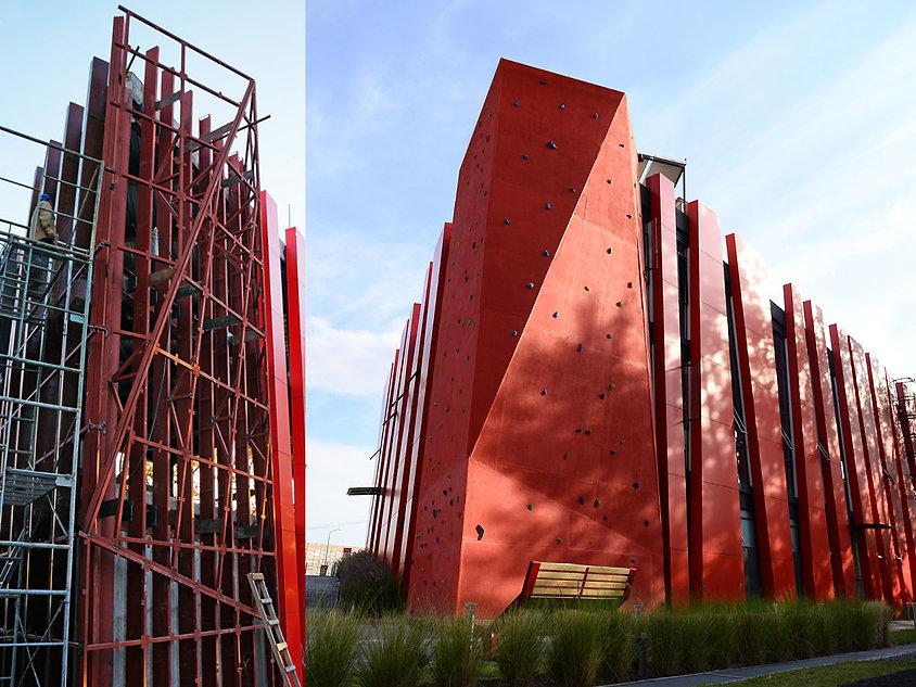 Muro de escalada de gimnasio Ibero