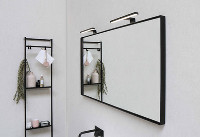 Frame spejl med mat sort ramme