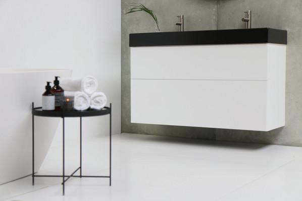 United vask mat sort - push open møbel mat hvid