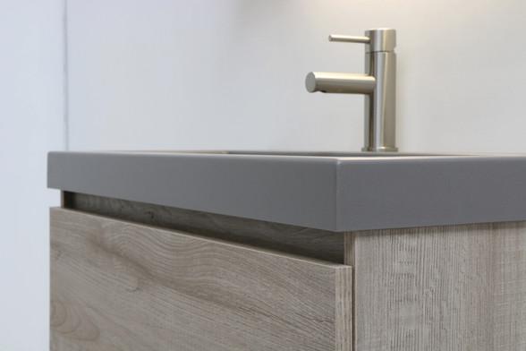 Dock quartz beton - onderkast greige eiken