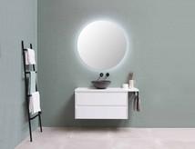Rundt spejl med indirekte LED belysning