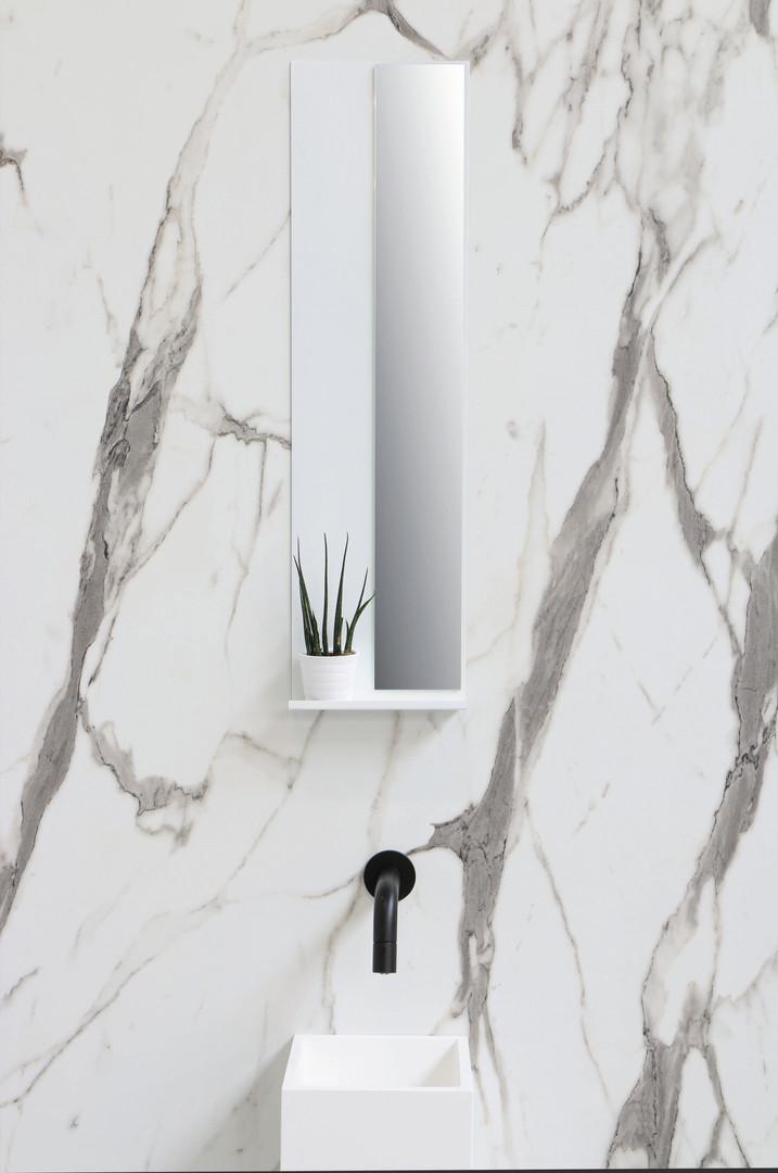 skyscraper mat wit - spiegel op note planchet
