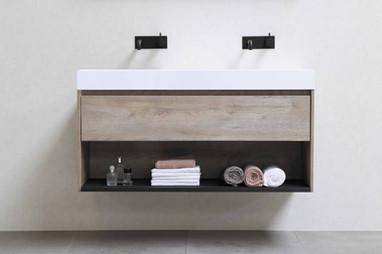 Loft polystonevask 120 cm - møbel i rå eg