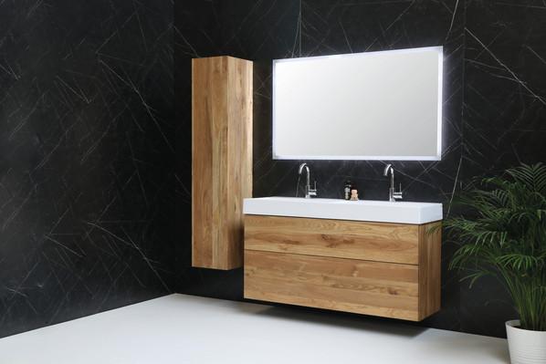 United vask højglans hvid - push open møbel massiv eg