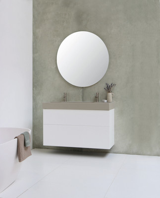 United vask i mat basento - push open møbel i mat hvid