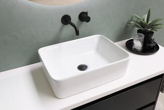 Rektangulær porcelænsbowle - møbel i mat sort