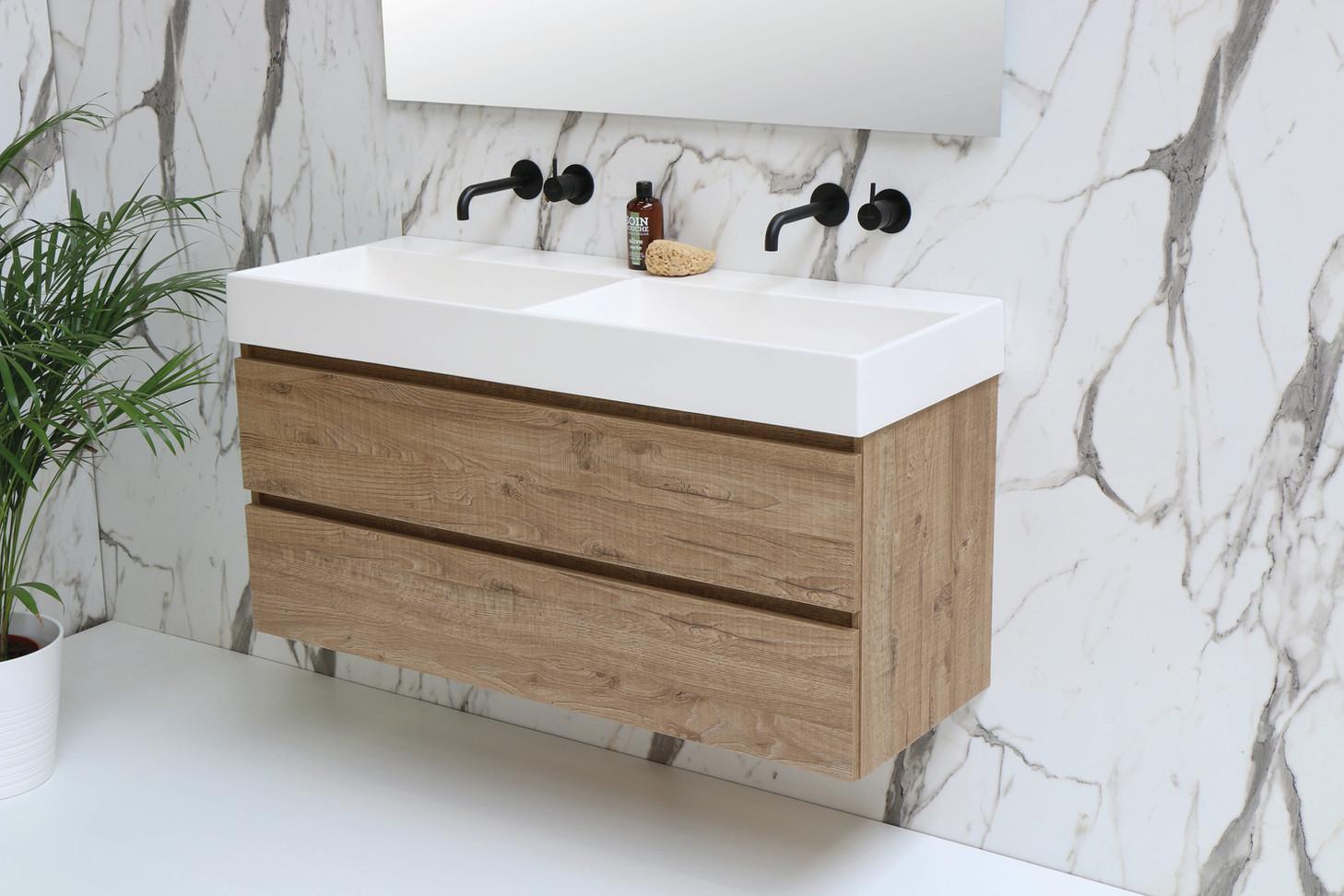 United vask mat hvid - møbel i naturlig eg