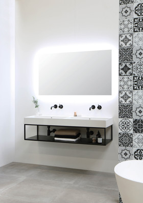Unlimited vask højglans hvid  - Ferro stålramme