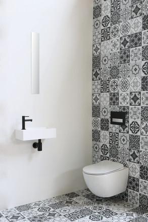 contra mat wit viertkant fonteinpack mat zwart
