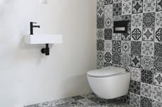 contra mat wit viertkant fonteinpack zwart