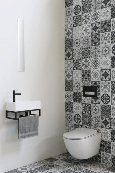 contra mat wit vierkant - frame mat zwart