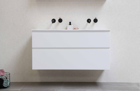 Elegant polystonevask mat hvid- møbel mat hvid