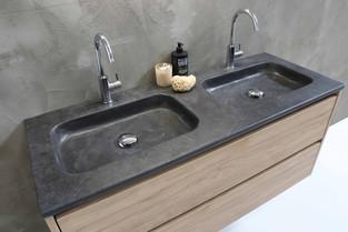 Elegant stenvask - møbel i ideal eg