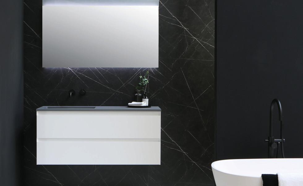 cargo quartz grijs - onderkast mat wit