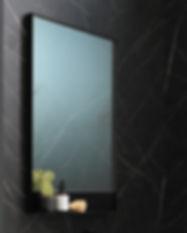UFO 80 cm frame mat zwart - spiegel staa
