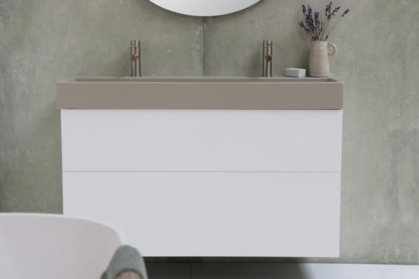 United vask mat basento - push open møbel mat hvid