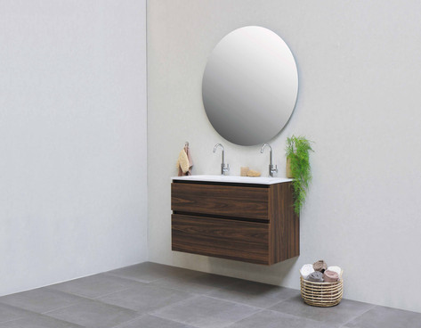 Elegant polystonevask blank hvid- møbel cabana eg
