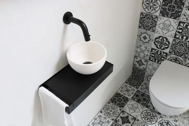 Jazz XS mat wit - frame mat zwart - inleg quartz zwart