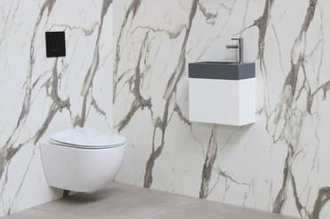 versus quartz beton - onderkast mat wit