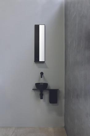 Mono zwart - fontein porselein mat zwart