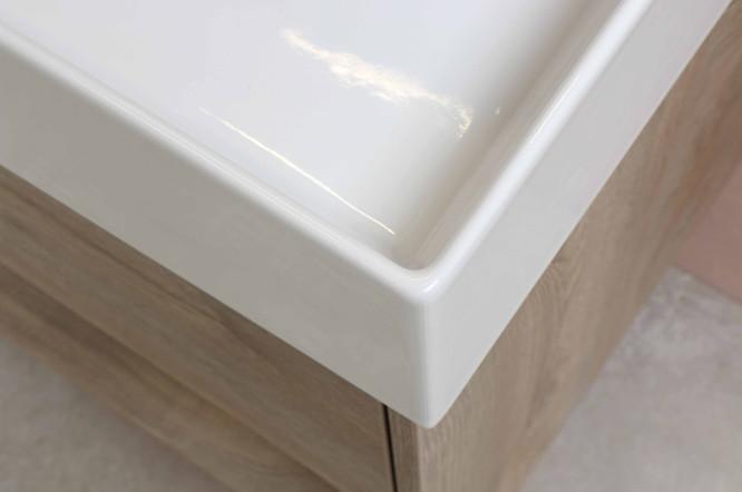 Wastafel porselein Loft - onderkast enke