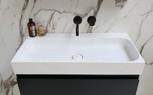 Unit 80 cm glans wit - mat zwart