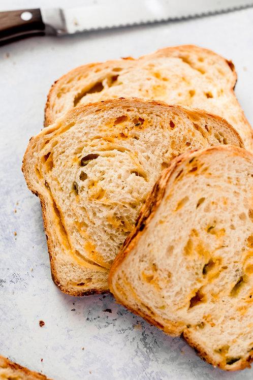 Jalapeño-Cheddar Sourdough Bread