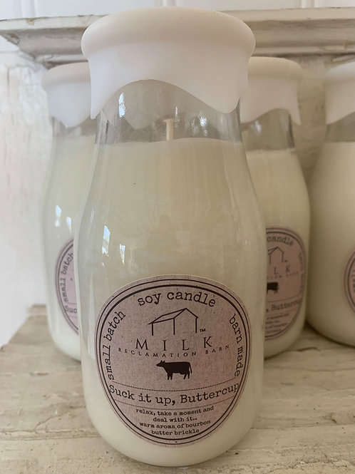 Reclaimed Milk Bottle Candles