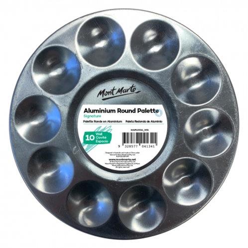 MM Aluminium Round Palette 10 Well (25 pack)
