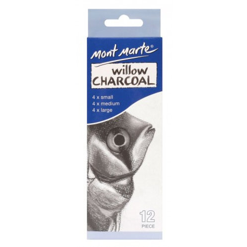 Willow Charcoal Pkt 12 (4 x sml 4 x med 4 lrg) Box of x12