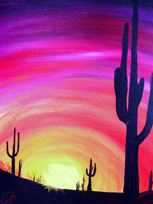 Learn to paint Cactus 'Paint at home Pack'