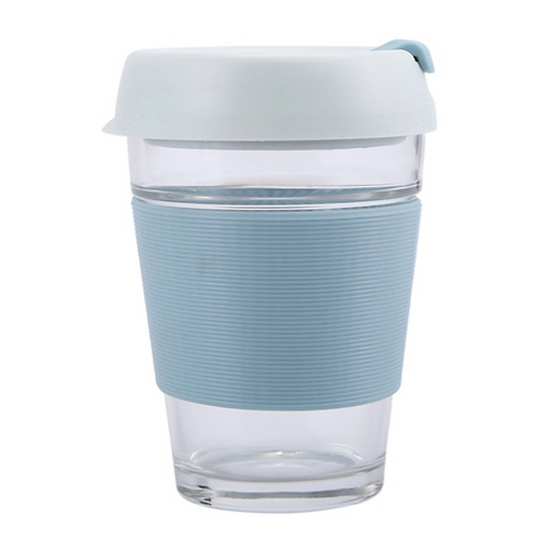 Baby Blue Glass Travel Cup