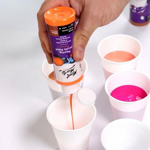 DIY 4 x Canvas Complete Paint Pour Kit - Coral