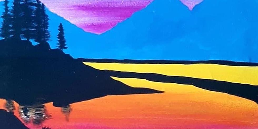 REDBANK PLAINS - ARIZONA CAFE - Learn to paint 'Rainbow River'