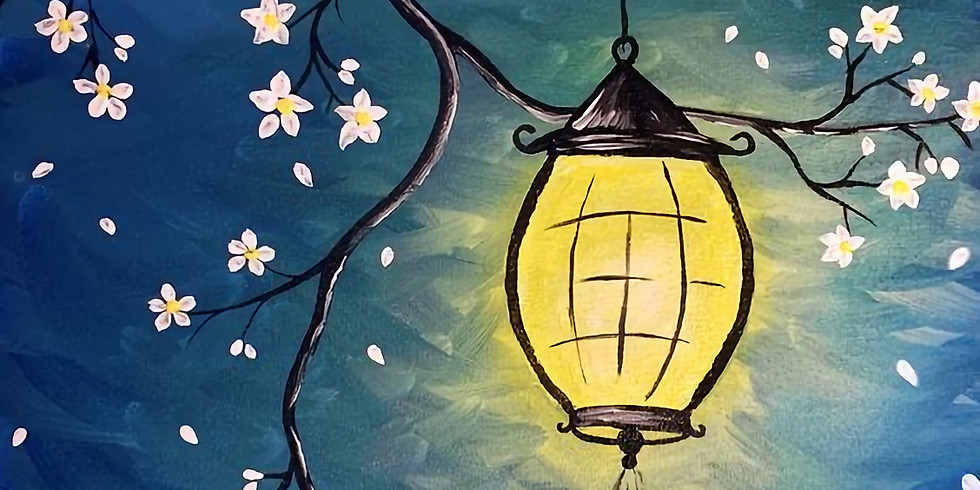 YOUTH VIRTUAL CLASS - Sip 'n' learn to paint 'Lantern'