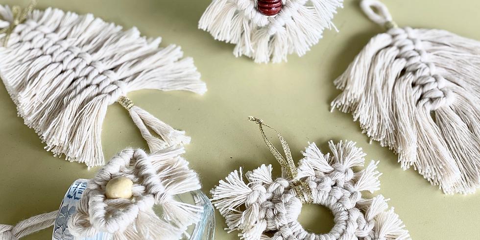 LOGANHOLME - Learn to make Macrame Christmas decorations