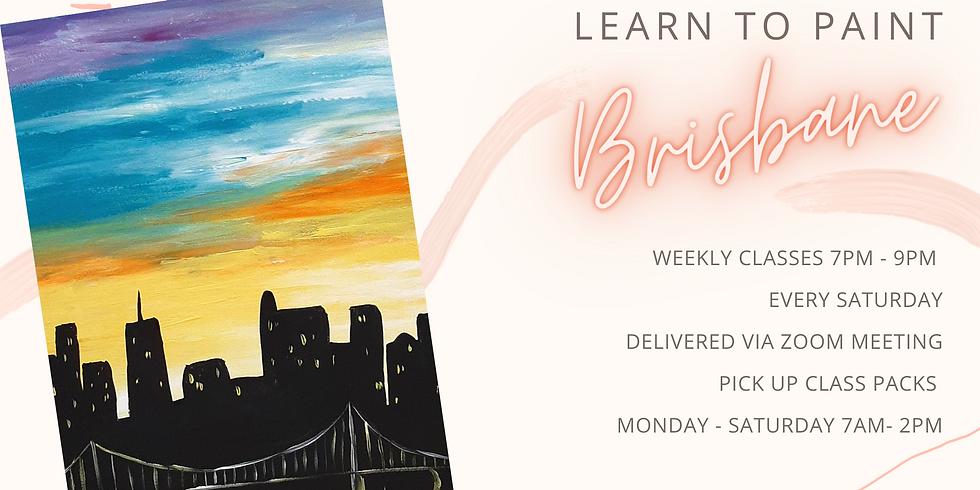 "ONLINE - Sip 'n' Paint ""Learn to paint Brisbane"""