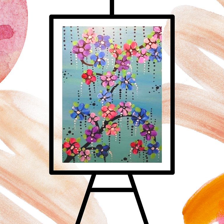 STUDIO - Community Learn to Paint - Learn to paint 'Blossoms'