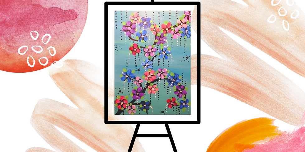 POSPONED - REBOOKED FOR 15/09 - Studio - Community Learn to Paint - Learn to paint 'Blossoms'