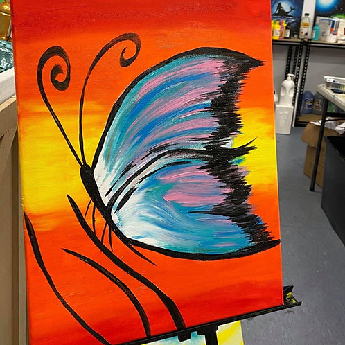 Learn to Paint Butterfly 'Paint at home Pack'