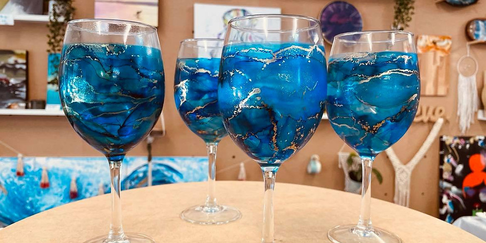 POSTPONED - REBOOKED FOR 10/09 - SPRINGFIELD - ORION - Make your own alcohol ink Glasses set