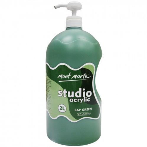 Acrylic 2L Pump - Sap Green