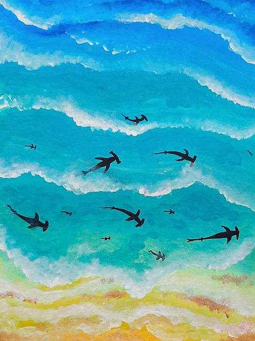 Learn to paint Shark 'Paint at home Pack'