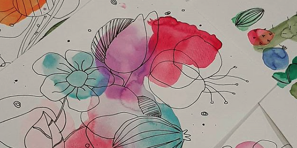 PROCEEDING - SPRINGFIELD - Learn to paint class - Teen Watercolour and fineliner paint class