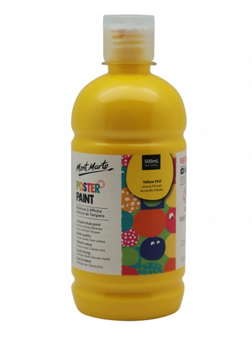 Poster Paint 500ml - Mid Yellow