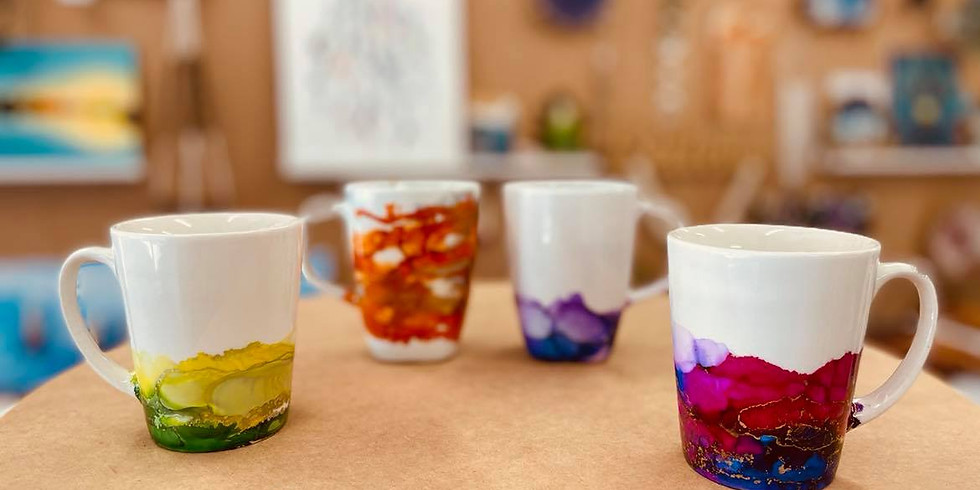 SPRINGFIELD - ORION - Make a 4pc set of alcohol ink mugs