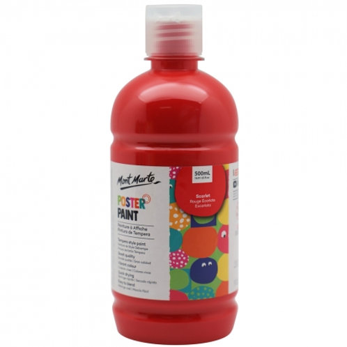 MM Poster Paint 500ml - Scarlet (6 pack)