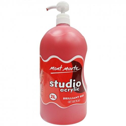 Acrylic 2L Pump - Brilliant Red